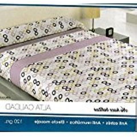 (MULTI CIRCULOS) JUEGO SÁBANAS 3X PIEZAS PIRINEO INVIERNO (grosor 120 g) CAMA 150X190-200CM BAJERA ELÁSTICA, ENCIMERA Y 1X FUNDA ALMOHADA + PACK 3X TOBILLEROS REGALITOSTV (150_x_200_cm,