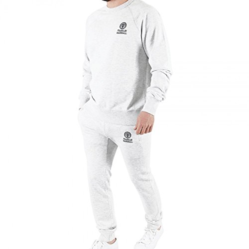 Franklin-Marshall-Crew-Neck-Tracksuit-White-TKMF039