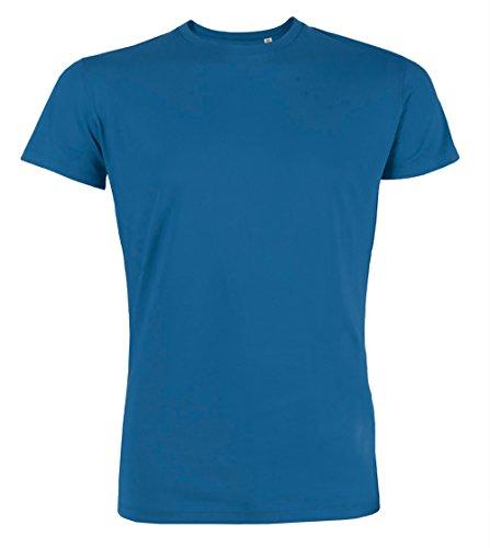 YTWOO Herren Rundhals Tshirt Aus 100% Bio-Baumwolle- in Diversen Farben Schwarz und Weiß bis 2XL - Organic, Herren Bio Shirt, Herren Bio T-Shirt Royalblau