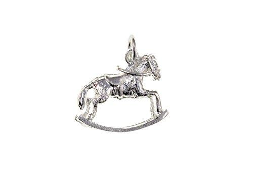 Schaukelpferd Sterling Silber Charm, Geeignet für Die Meisten Arten von Charm Bracelets. BU0095