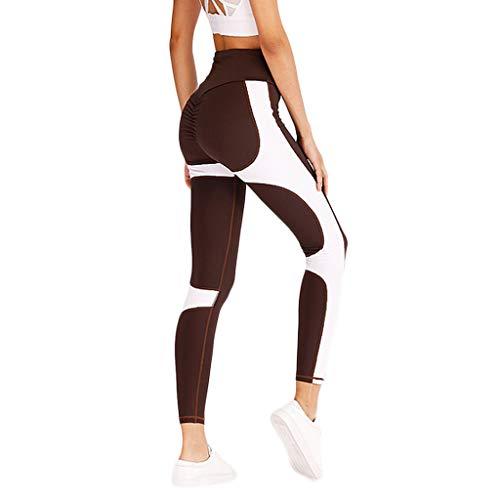 Setsail Damen Fashion Colorful Collision Stretch-Unterhose Yogahose Sport-Leggings Jogginghose Hüfthose Workout High Elastic Hosen mit hoher Taille für Fitness-Yogahosen Freizeithose -