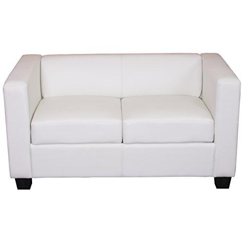 Mendler 2er Sofa Couch Loungesofa Lille ~ Kunstleder, weiß