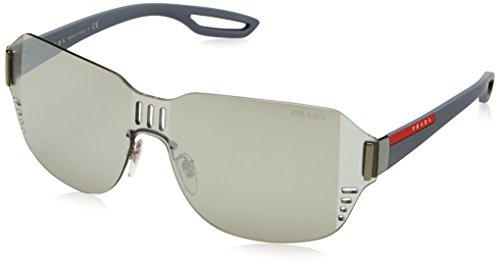 Prada Sport Herren 0PS05SS 5AV5L0 44 Sonnenbrille, Grau (Gunmetal/Grey Black),