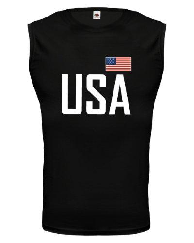 buXsbaum® Tank Top USA Black-
