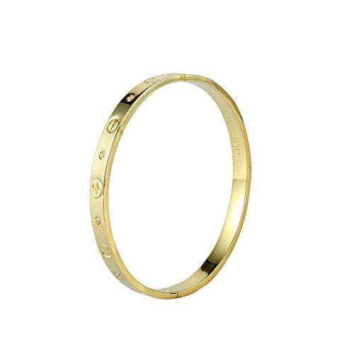 Golo designer Inspired-Bracciale in acciaio INOX per donne o lovers Sweethearts (oro)