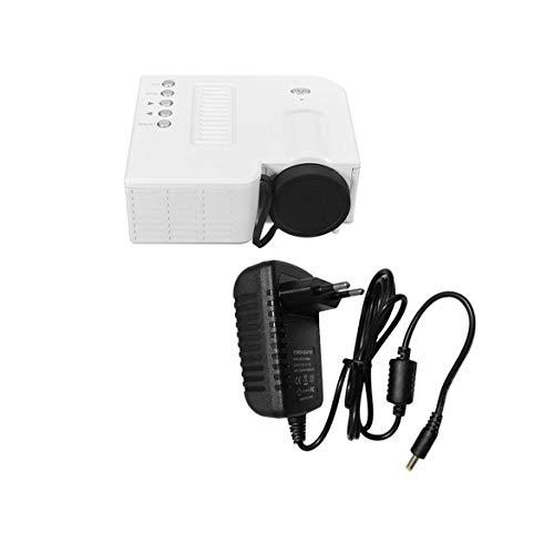 UC28B Mini Tragbare LED Projektor 1080 P Multimedia Familie Kino Heimkino USB TF Karteneingang Mini Beamer Für PC Laptop (weiß) - Multimedia-projektor Tragbar