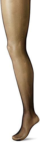 a3521038f22931 Hanes Silk Reflections Women's Plus Size Curves Fashion Fishnet Tights,  Black, ...
