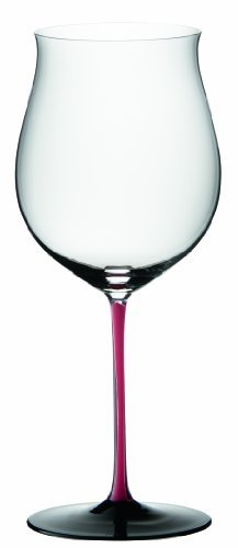 Riedel Sommeliers Series Collector's Edition Lead Crystal Single Stem Burgundy Grand Cru Glass, 37-Ounce, Red/Black by Riedel Riedel Sommeliers Single