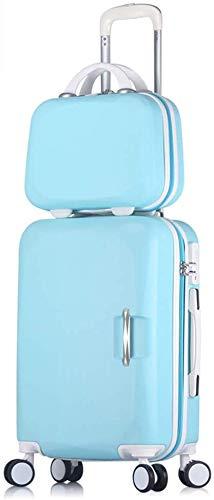 FXDCQC Gepäckbox (Box Für Kinder) Trolley Weiblichen Kleinen Passwort Coole Koreanische Version des Universal Rad Studentenkoffer,Gray,43 * 27 * 65cm