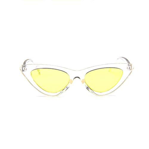 Harpily Sonnenbrillen Striped Integriert Für Sonnenbrillen Mit Sonnenbrillen Modische Cat Eye Katzenaugen Triangle Sonnenbrillen Frau Vintage Retro Candy Colored