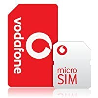 Vodafone Pay As You Go Sim Card with £10 Credit