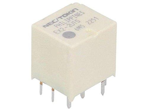 EX2-2U1 Relay electromagnetic SPDT x2 Ucoil12VDC 30A automotive EX2-2U1(S) NEC -