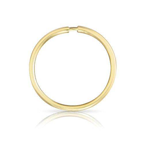 ONDAISY 1 Piece 20G 14K Gold Solid segment Septum Lip Nose Round hoop Tragus Helix cartilage Daith Interior Exterior Shell Ring Ear Piercing Earring