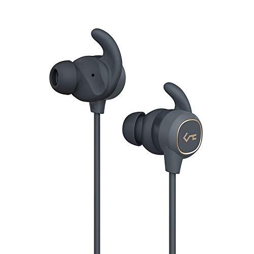 AUKEY Bluetooth Kopfhörer, Key Series Bluetooth 5 Kopfhörer mit Smart Switch, Wasserfestigkeit IPX6, 8 Stunden Akkulaufzeit und Mikrofon für Fitness