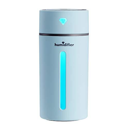 XMxDESiZ - Humidificador ultrasónico con luz LED Nocturna y Cargador USB, difusor de Aceite Esencial...