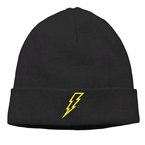 Preisvergleich Produktbild Lightning Flash Man Cable Knit Skull Caps Thick Soft & Warm Winter Beanie Hats for Women & Men Cotton Hat Unisex Cap