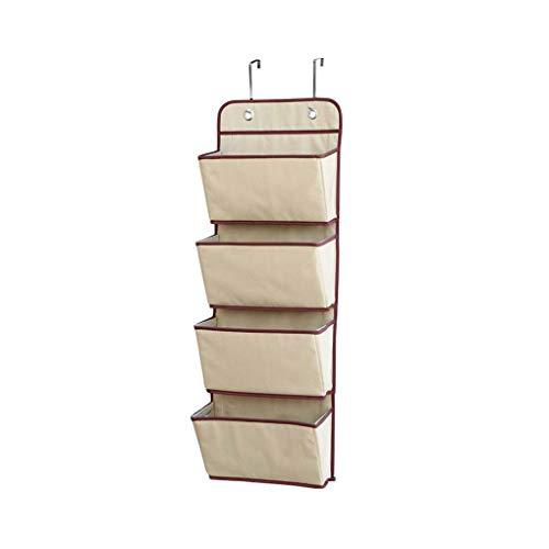 Cdrox 4-Taschen-hängende Wand Organizer Cozy über Tür-Speicher-Fall Metallhaken für Schlafzimmer/Büro - Wand Veranstalter