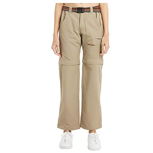 FLYGAGA Women's Zip Off Trousers Hiking Trousers Convertible Trousers Outdoor Breathable Quick Dry Cargo Pants for…