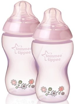 Tommee Tippee Closer to Nature – Anti Cólico Botella 2 unidades) 340 ml Color Rosa