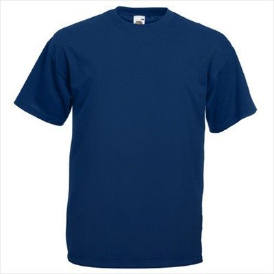 Fruit of the Loom - Classic T-Shirt 'Value Weight' 4X-Large,Navy (Plain T-shirts)