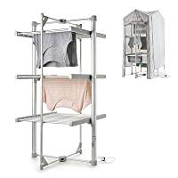 Dry:Soon Mini 3-Tier Heated Airer and Cover Offer Bundle (Under 4p/Hour!)