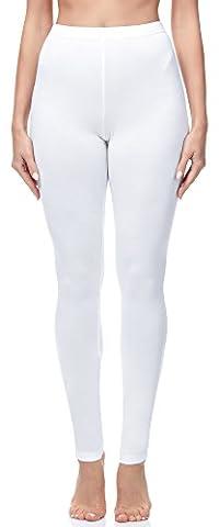 Merry Style Leggings Long Femme MS10-143 (Blanc, M)