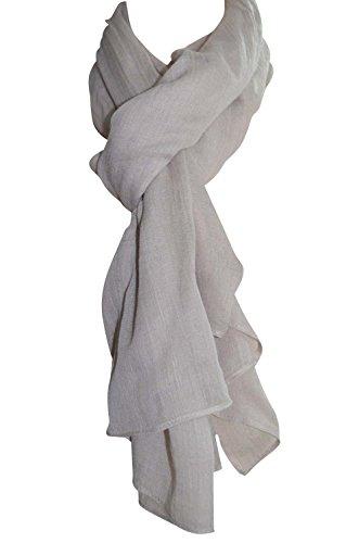 Femme - Foulard - Douce - étole - pashmina - écharpe - cache-col Couleurs au choix Beige Poudre