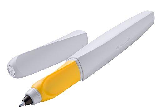 Pelikan 959783 Twist Tintenroller universell für Rechts- und Linkshänder, blaugrau/gelb