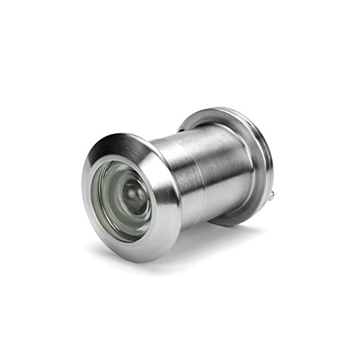 AR-House 28mm Türspion Edelstahl-Optik Spion für Einbau in 40-65mm Türblätter 200° Weitwinkel inkl (28mm Durchmesser)