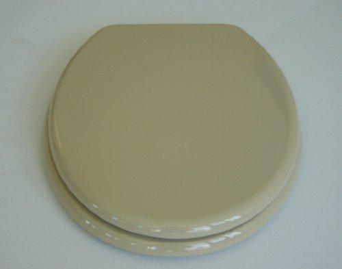 ADOB WC Sitz Klobrille mit Holzkern, verstellbare Metallscharniere, beige, 87075