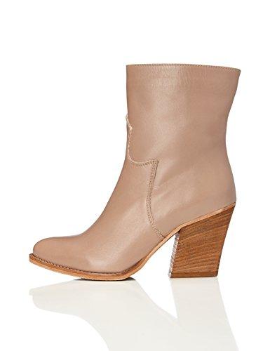 FIND Damen Buck Stiefel, Braun (Brown), 36 EU (Tragen Hohe Stiefel Sie)