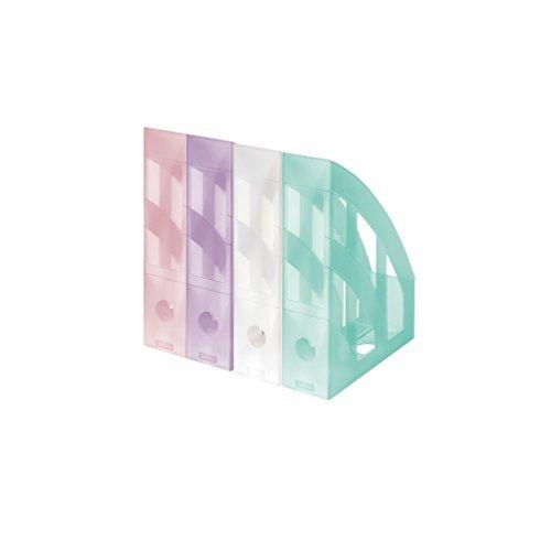 4 Herlitz Stehsammler / Plastik  / 4 Farben