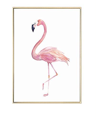 SoulSisters Living Hochwertiger Leinwanddruck mit Flamingo Motiv A4 21 x 30 cm – Kunstdruck Fine Art Geschenk Moderne Poster Print Leinwandbild Wandbild Leinwand Plakat Deko Bild DINA4 (Flamingo)