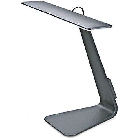 Lámpara de Mesa, VSOAIR Dimmer de 3 Niveles y Puerto de Carga USB Lámpara de Escritorio Ajustable de Lectura Táctil (gris)