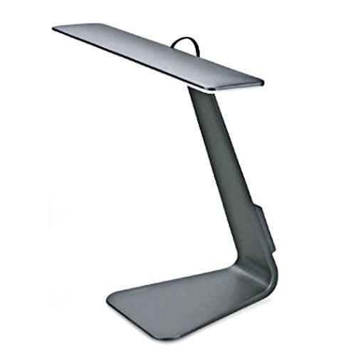 SUAVER USB LED Tischleuchten, Style to Match Macbook, Ultra 5mm dünne Tischlampe, 28 LED Licht mit 3 Helligkeitsstufen, Augenschutz Schreibtischlampe und Touch-Sensitive Control Lampen lesen (Grau)
