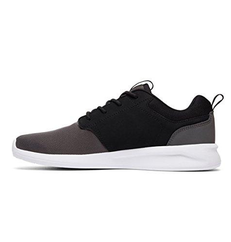 DC Midway Sn, Herren Skateboardschuhe mehrfarbig schwarz grau Schwarz / Grau