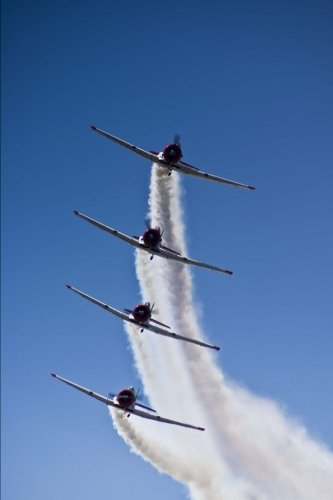 Harvard Aerobatic Team Incoming Airplanes Stacked Journal: 150 page lined notebook/diary