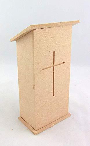 Puppenhaus Miniatur 1:12 Maßstab Möbel Set Kirche Kanzel Kapelle Rednerpult