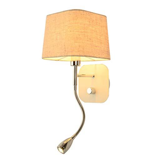 Addison Applique murale moderne avec flexible réglable LED 3 W Lampe de lecture de chevet avec interrupteur Blanc chaud minimaliste intérieur Chambre Veilleuse Blanc murale Spot design E14 max 40 W
