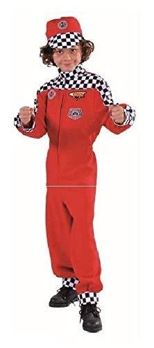 narrenkiste M214066-116-A Kinder Mädchen Junge Rennfahrer Kostüm-Overall Gr.116 Racer Girl Overall