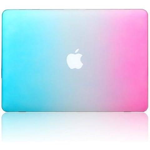 'cowx funda arco iris No hueca tallada Logo Fundas Carcasa portátil Funda Hard Shell Funda Cover Case Covers para MacBook Air 11(2013) y Apple MacBook Air