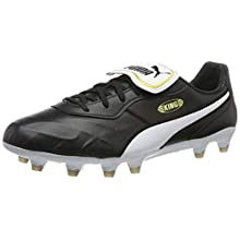 PUMA King Top FG, Scarpe da Calcio Unisex Adulto, Nero Black White, 41 EU