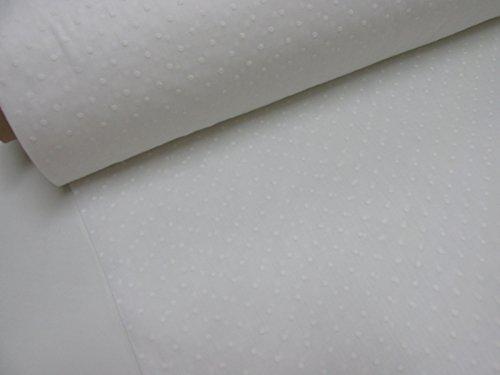 Metraje 0,50 mts tela etamín visillo cortinas Ref. Plumeti color blanco, con ancho 2,80 mts.