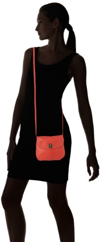 Pieces Totally Royal Leather Party Bag13, Sac bandoulière Orange (Clear Coral)