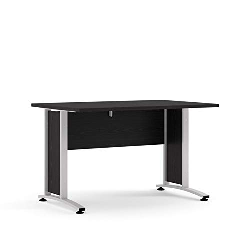 Prisme Schreibtisch Schwarze Esche silbergrauer Stahl Bürotisch Arbeitstisch Computertisch Büro Tisch -