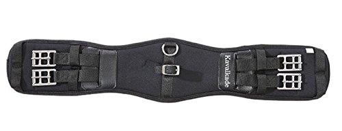 Kavalkade Sattel-Kurzgurt Memory-Foam, schwarz, 65 cm