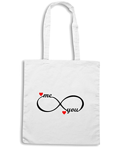 T-Shirtshock - Borsa Shopping T1050 me and you love amore Bianco