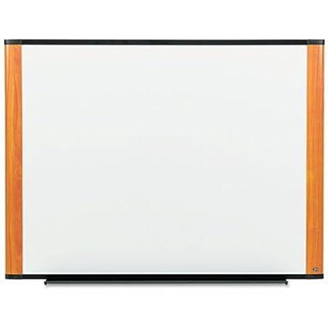 3M Melamine Dry Erase Board, 48 x 36, Light Cherry Frame by 3M