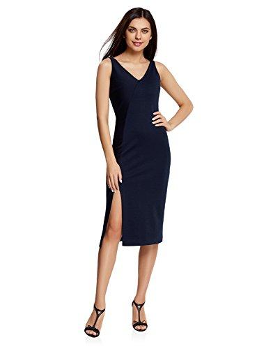 Oodji Ultra Mujer Vestido Corte Asimétrico Abertura