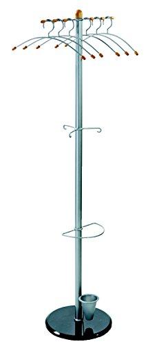 Alco 2805 Standgarderobe, Metall, silber, 175 x 38 x 38 cm